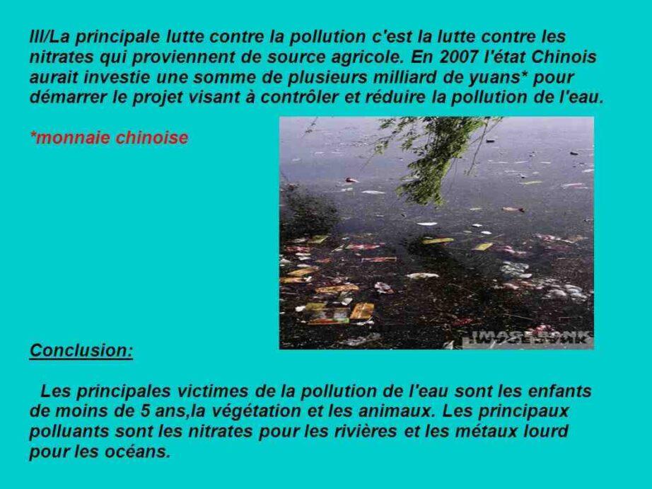 Quelles sont les principales causes de la pollution de l'eau ?