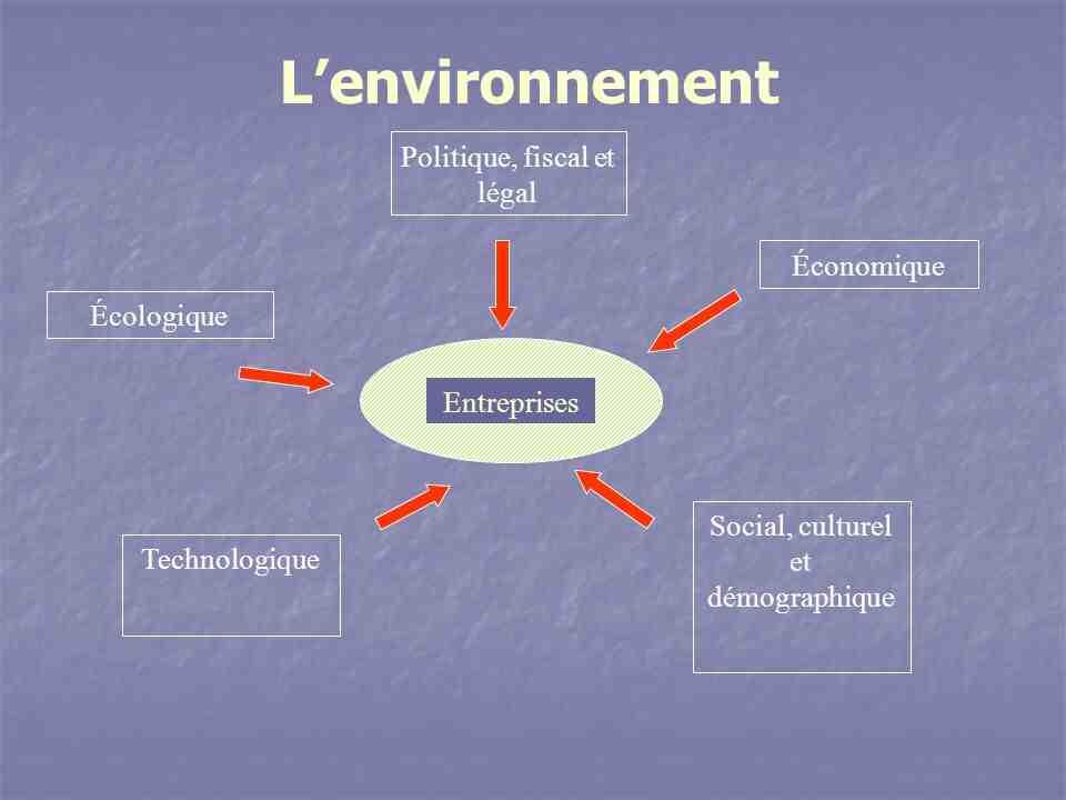 Quel est l'environnement économique d'une entreprise?